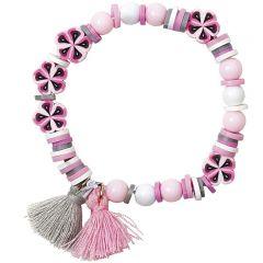 Armband setje roze/grijs