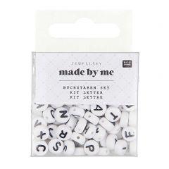 Letterkralen 7 x 4 mm 165 stuks wit