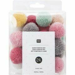 Pompon 24 stuks mix pastel