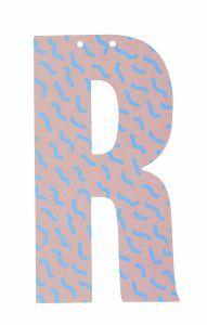 Letter voor slinger 9 x 15 cm R