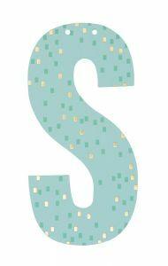 Letter voor slinger 9 x 15 cm S