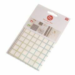 PaperPatch papier 30 x 42 cm 3 st. ruitjes iriserend/wit