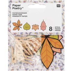 Geschenklabels 8-10 cm 8 stuks Funny Fall Leaves