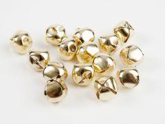 Belletjes 18 mm 15 stuks goudkleurig