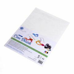 Crea Shrink A4, 5 stuks wit printbaar