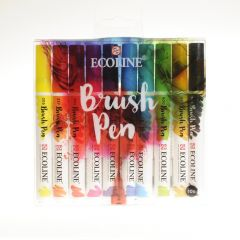Ecoline brushpen set 10 stuks primary