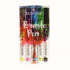 Ecoline brushpen set 5 stuks primary