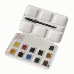 Van Gogh Aquarelverf pocket box 12 napjes + penseel - basic