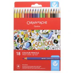 Caran D'Ache School Line Kleurpotloden 18 stuks
