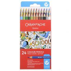 Caran D'Ache School Line Kleurpotloden 24 stuks