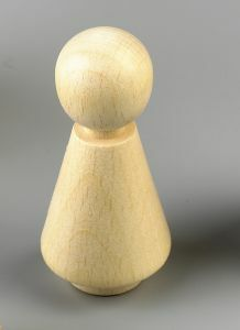 Houten pion/kegelpopje 50 x 25 mm naturel