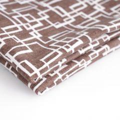 Stof katoen 50 x 55 cm squared brown