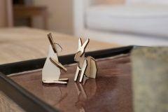 noRdic Houten figuren 6,5 cm konijnen koppeltje