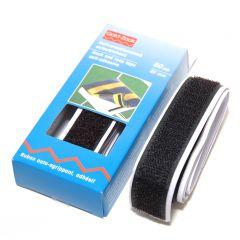 Klittenband zelfklevend 20 mm breed 60 cm zwart