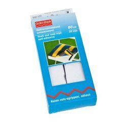 Klittenband zelfklevend 20 mm breed 60 cm wit