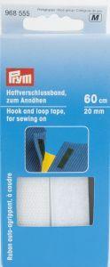 Klittenband opnaaibaar 20 mm breed 60 cm wit