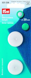 Stofknopen kunststof wit 29 mm 2 stuks