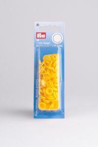 Color Snaps rond 30 stuks 12,4 mm geel