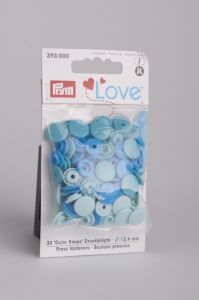 Prym Love Color Snaps 12,4 mm 30 stuks blauw mix