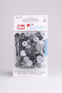 Prym Love Color Snaps 12,4 mm 30 stuks grijs mix