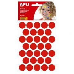 Apli stickers cirkel 20 mm 180 stuks rood