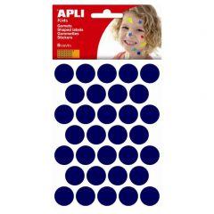 Apli stickers cirkel 20 mm 180 stuks blauw