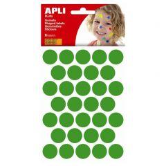 Apli stickers cirkel 20 mm 180 stuks groen