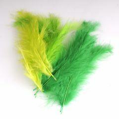 Krea Feathers pluim marabou 10 cm 12 stuks mix groen