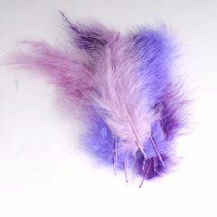 Krea Feathers pluim marabou 10 cm 12 stuks mix paars