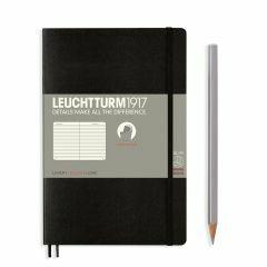Leuchtturm1917 notitieboek paperback B6+ gelijnd zwart