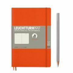 Leuchtturm1917 notitieboek paperback B6+ gelijnd oranje