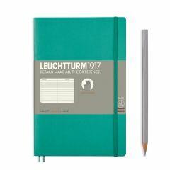 Leuchtturm1917 notitieboek paperback B6+ gelijnd emerald