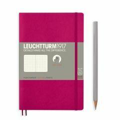 Leuchtturm1917 notitieboek paperback B6+ gestipp. framboos