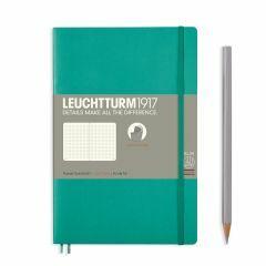 Leuchtturm1917 notitieboek paperback B6+ gestipp. emerald
