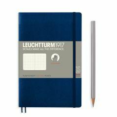 Leuchtturm1917 notitieboek paperback B6+ gestippeld navy