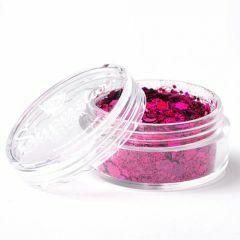 Superstar chunky glittermix 8 ml Laser Pink