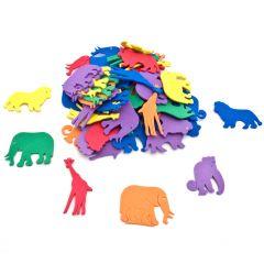 Rubber dieren 4-5 cm 60 stuks assortiment