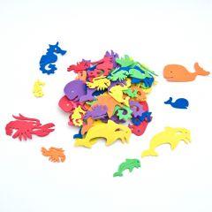 Rubber zeedieren 4-6 cm 60 stuks assortiment
