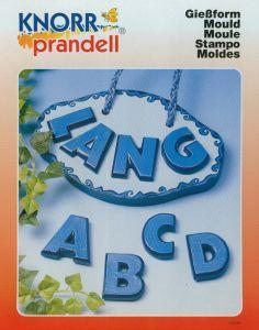 Gietvorm alfabet hoofdletters 3,5 cm