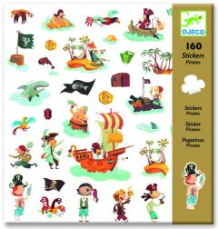 Djeco stickers Piraten 160 stuks