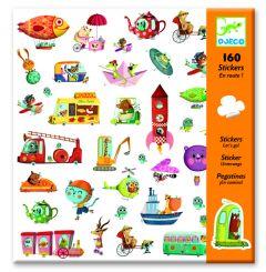 Djeco stickers Onderweg 160 stuks
