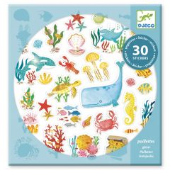 Djeco stickers 30 stuks Aqua Dream