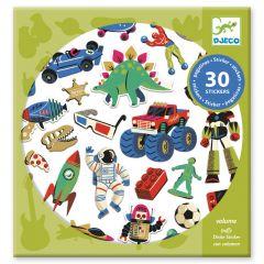 Djeco stickers 30 stuks Retro Toys