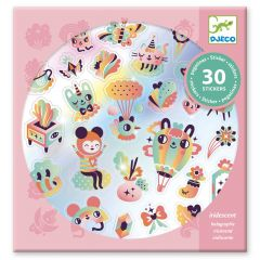 Djeco stickers 30 stuks Lovely Rainbow