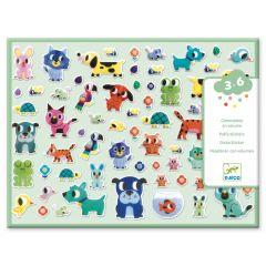 Djeco puffy stickers My Little Friends 3-6 jaar