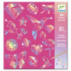 Djeco krasstickers iriserend Diamond 6-11 jaar