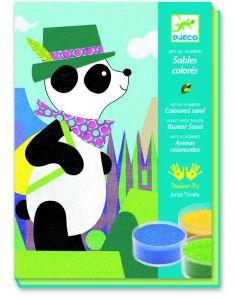 Djeco gekleurd zand Panda en vriendjes 4-8 jaar