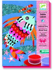 Djeco zandprenten Regenboog van vissen 6-11 jaar