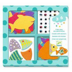 Djeco stickerset I Love Fishes 3-6 jaar