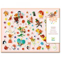 Djeco puffy stickers Feest 3-6 jaar